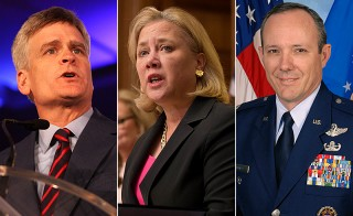 Bill Cassidy, Mary Landrieu and Robert Maness