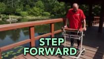 Step Forward MAN PARALYZED walik monitor