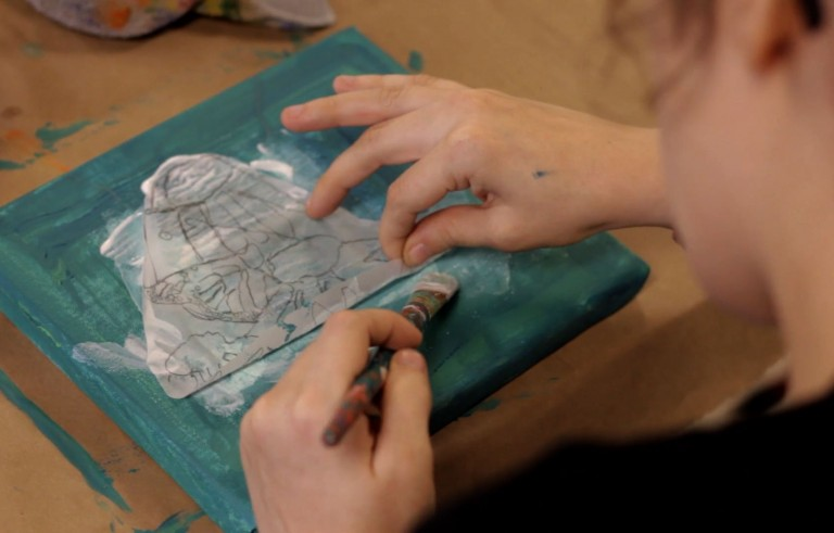 KLRU developmentally handicapped artist