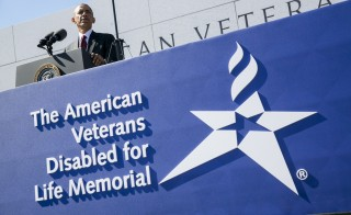 Obama Speaks At Disabled Veterans Memorial Dedication
