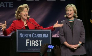 Hilary Clinton and Kay Hagan