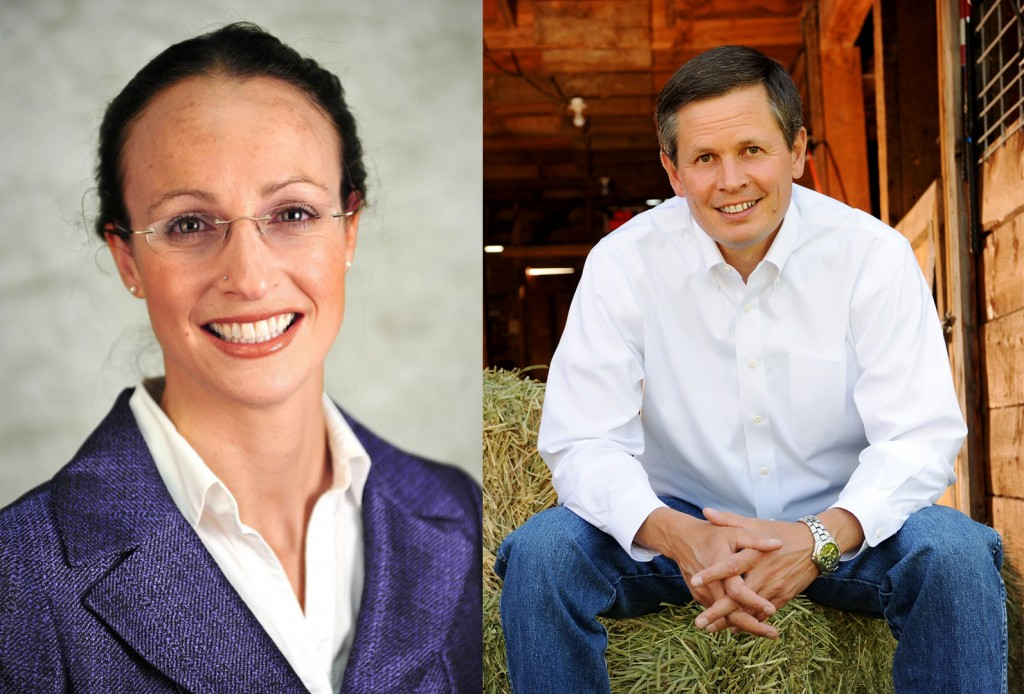 Amanda Curtis (D) and Steve Daines (R) will face off in tonight's debate for Montana's open U.S. Senate Seat. Photos courtesy Wikimedia Commons.