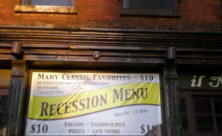 The economy is still feeling the longer term consequences of the financial collapse. Photo by Flickr user Kevin Harber.