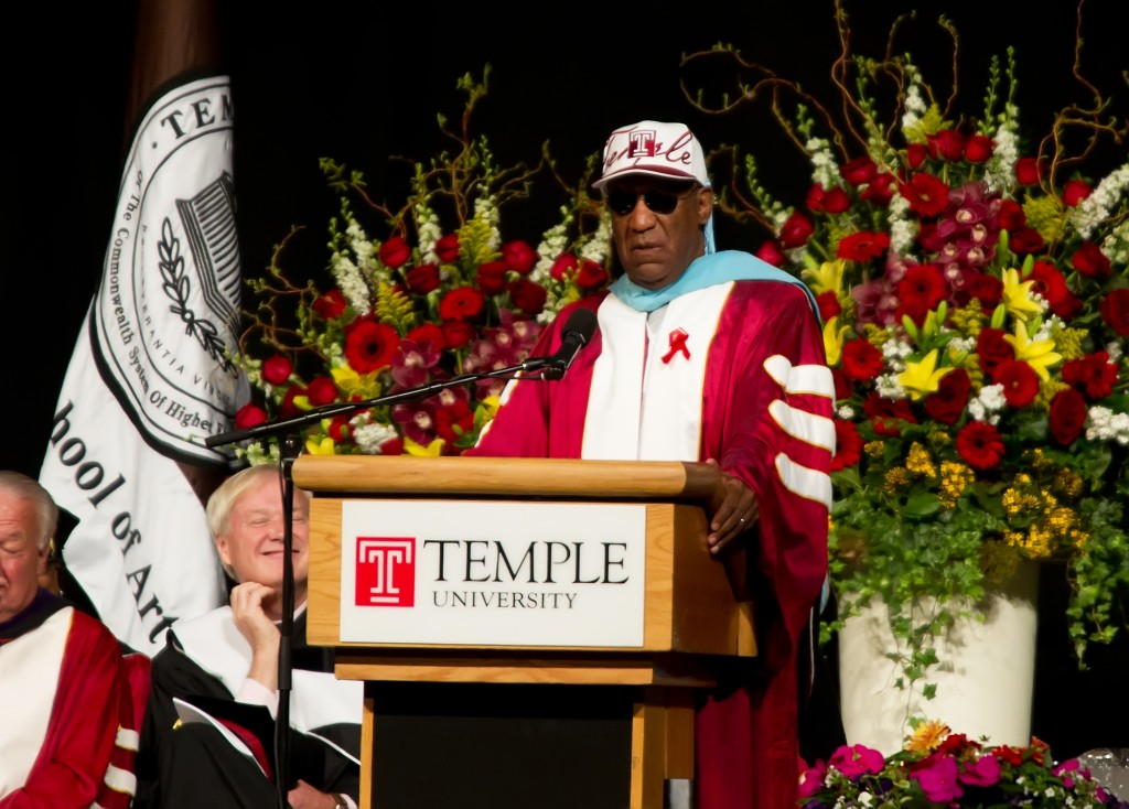 Bill Cosby attends the 2011 Temple University Commencement at the Liacouras Center on May 12, 2011 in Philadelphia, Pennsylvania. Photo by Gilbert Carrasquillo/Getty Images