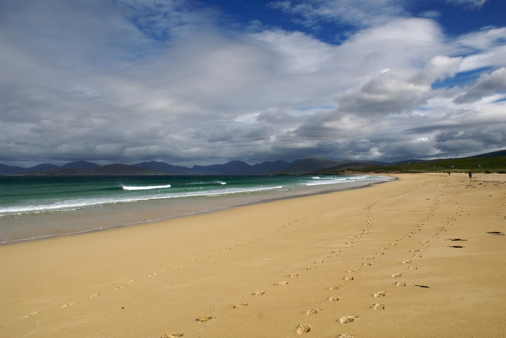 The nearly deserted beaches of the Isle of Harris. Photo by Flickr user Stuart Herbert.
