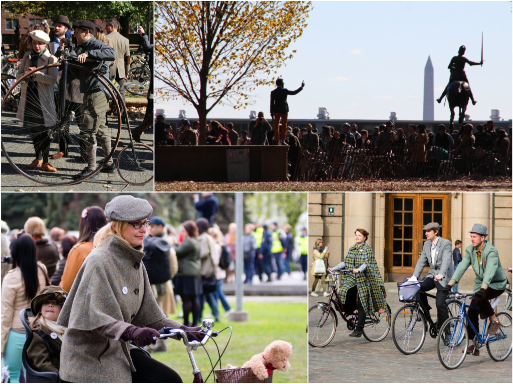 Tweed Rides span the globe, from Washington, D.C., to Riga, Latvia. Photos by Lorna Baldwin and Flickr user Māris Greidāns.
