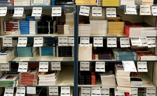 College textbooks for sale in a school bookstore. Photo by John Greim/LightRocket via Getty Images