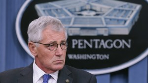 U.S. Defense Secretary Chuck Hagel hold a news conference at the Pentagon Oct. 30, 2014 in Arlington, Virginia. Photo by Chip Somodevilla/Getty Images