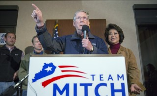Senate Minority Leader Mitch McConnell Campaigns Ahead of Election Day