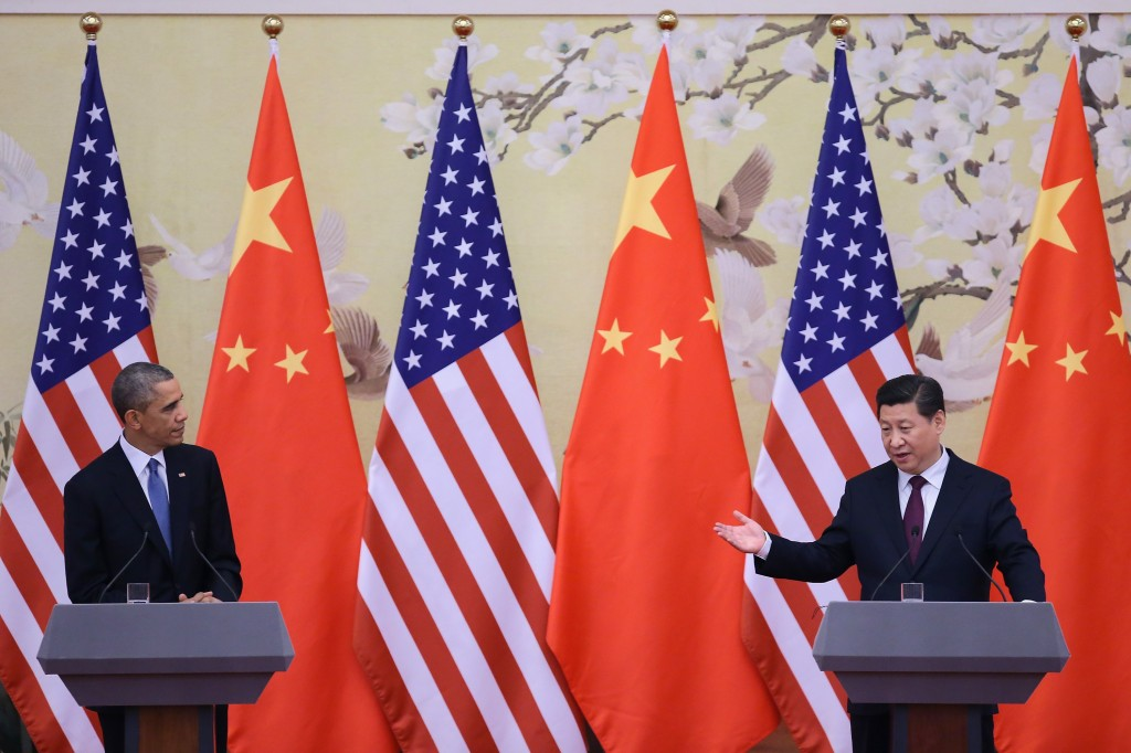 U.S. President Barack Obama (left) and Chinese President Xi Jinping at a press conference in Beijing, China, after the 22nd Asia-Pacific Economic Cooperation (APEC) leaders conference, on Nov. 12. Photo by Feng Li/Getty Images