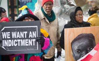 Missouri Governor Jay Nixon declares a state of emergency Monday as Ferguson awaits the grand jury verdict in the shooting death of Michael Brown. In the image above, demonstrators in Clayton, Missouri protest on Nov 17. Photo by Scott Olson/Getty Images