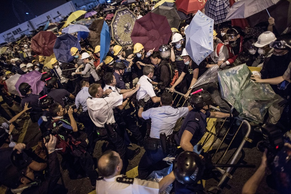Police Continue Efforts To Clear Hong Kong Protest Sites