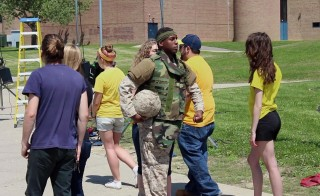 what it feels like for the veteran to come home and sometimes experience two different realities at once.""