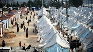 REFUGEE  CRISIS  tent city monitor