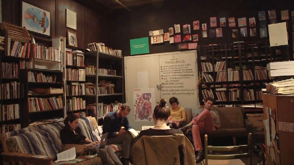 The Words After War writing workshop meets at Mellow Pages in Brooklyn, New York. Credit: NewsHour