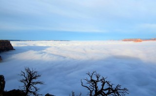 Inverted clouds virtually obscure Arizona's Grand Canyon. Image from the National Park Service.