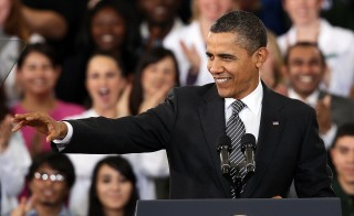 Obama Discusses 2013 Budget At Visit To Community College In VA