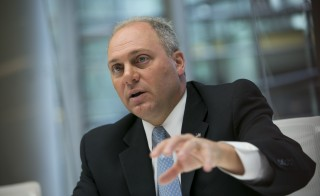 House Majority Whip Steve Scalise, a Republican from Louisiana, speaks during an interview in New York on Oct. 8, 2014. Photo by Scott Eells/Bloomberg via Getty Images