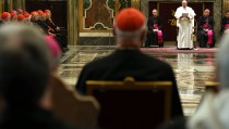 Pope Francis Exchanges Christmas Greetings With The Roman Curia