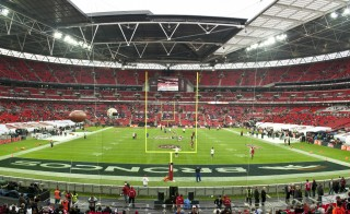 The San Francisco 49ers take on the Denver Broncos at Wembley Stadium, on Oct. 31st, 2010. Photo by Flickr user Mark Botham.