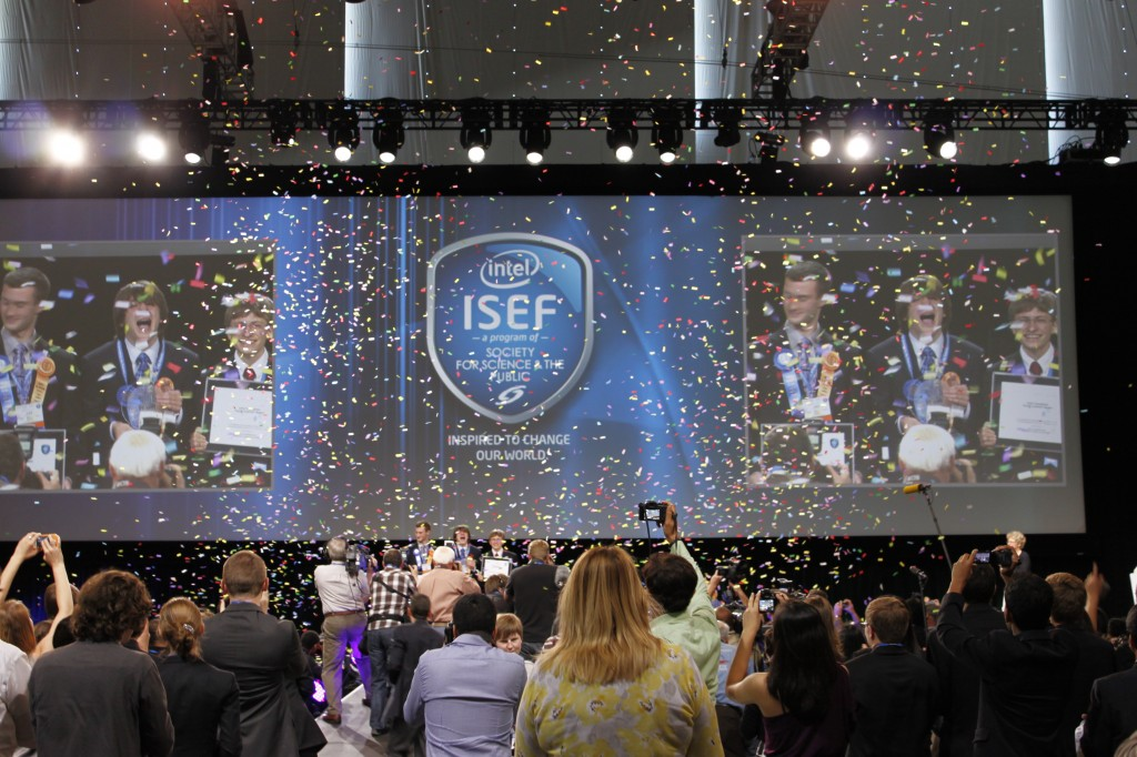 Jack Andraka wins the Intel ISEF award in 2012 for his research on cancer detection. Photo by Flickr user FEBRACE
