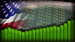 BANNER YEAR us flag stock market bkg  momitor