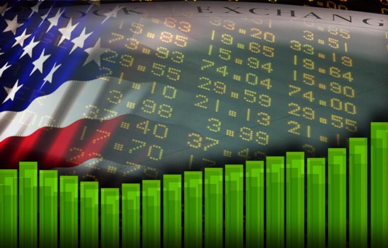 BANNER YEAR us flag stock market bkg  momitor