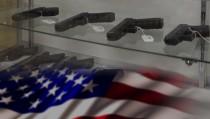 GUNS IN AMERICA monitor us map flag