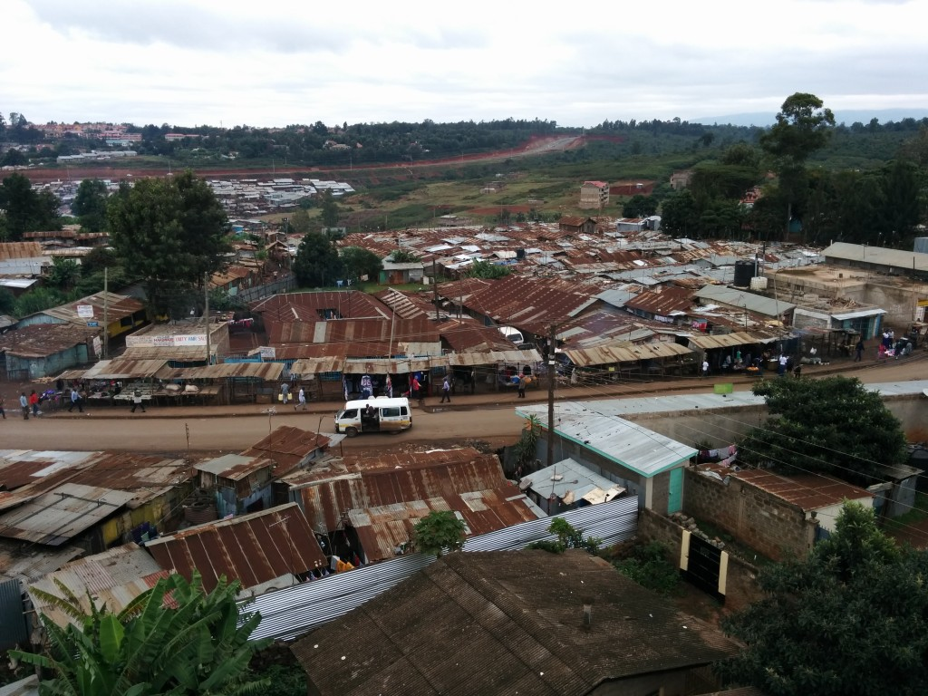 More than 800,000 people call Kibera their home. The largest slum in Kenya borders Nairobi.