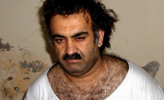 """Khalid Sheikh Mohammed, pictured here after his capture in Pakistan in 2003, was mentioned several times in the Senate report on the ineffectiveness of the CIA's enhanced interrogation techniques on detainees. KSM was waterboarded by CIA interrogators in what the report describes as a """"series of near drownings"""""""