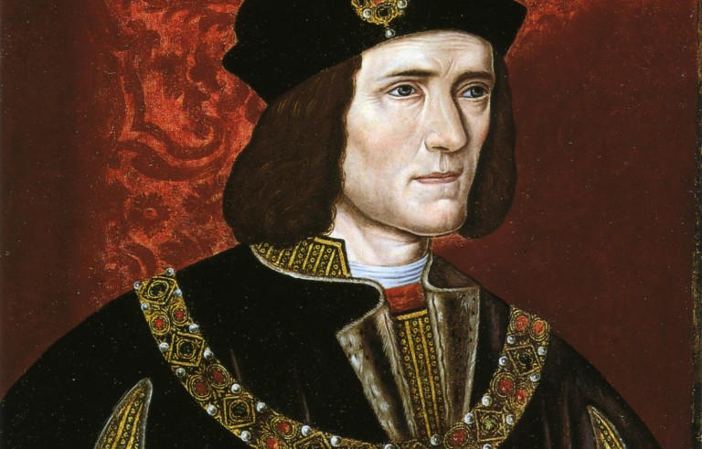 A late 16th century portrait of King Richard III of England in the National Portrait Gallery, London.