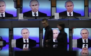 RUSSIAN REALITY monitor putin TV