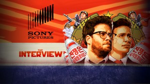 Sony Pictures logo and image of The Interview MONITOR