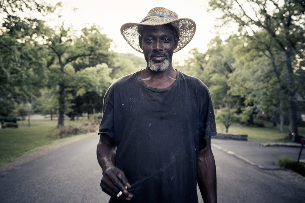"""A lawn care worker named Mo was the first portrait that Reynolds took in her Southern Route series. When she saw him in Nashville, she described him as """"debonaire"""" and """"very classic"""" and said these traits made him stand out to her. After taking his photo, she wanted to use her camera to capture similar moments in the South. Photo courtesy of Tamara Reynolds."""