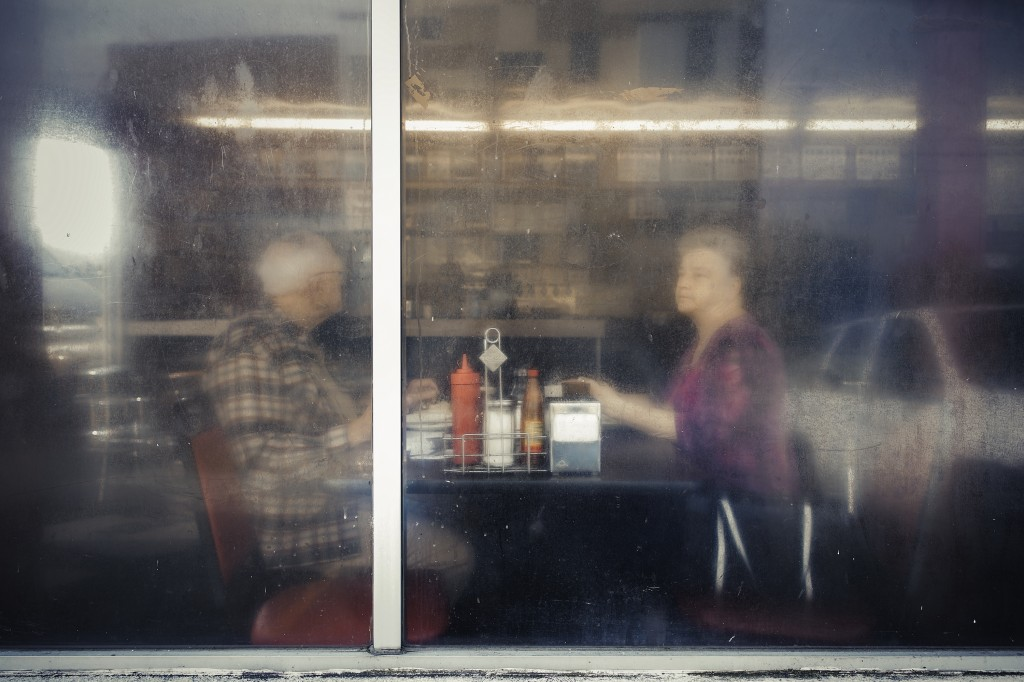 A couple appears to sit in quiet reflection in this photo Reynolds took at the Hermitage Cafe in Nashville. This photo will be one of a handful of hers on exhibit at the Ogden Museum of Southern Art in New Orleans starting on Dec. 5.  Photo courtesy of Tamara Reynolds