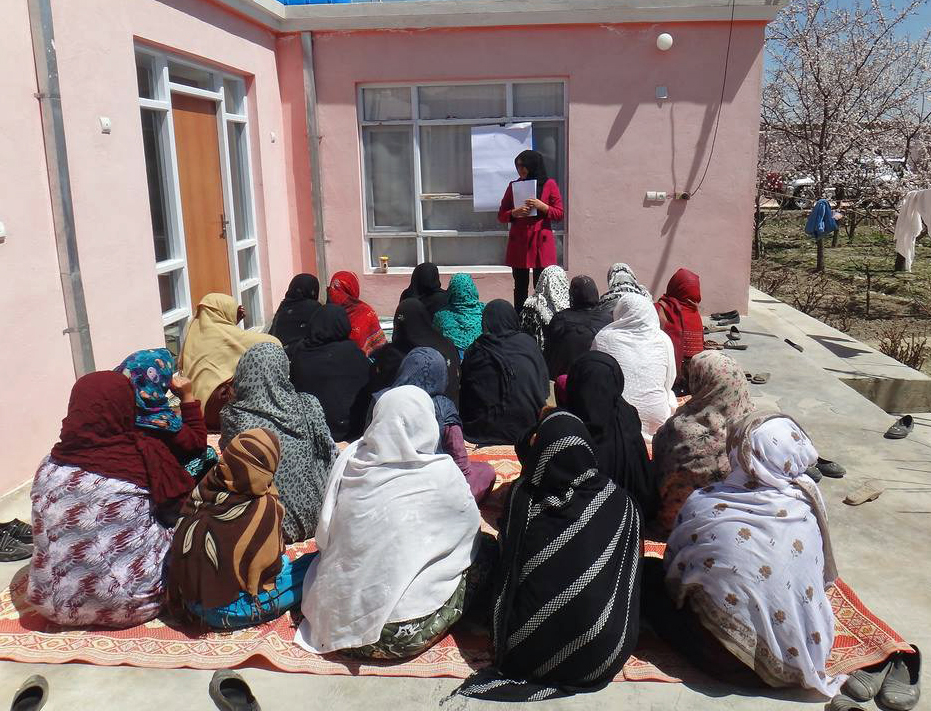 These farmers-in-the-making learn about starting their own businesses. Photo courtesy of the Global Partnership for Afghanistan