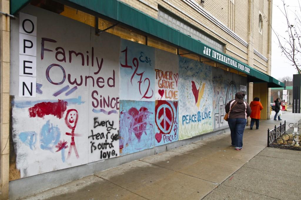 Art outside Lemongrass Restaurant in St. Louis. Photo by Miriam Ross-Hirschh