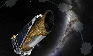 Artist's rendering of NASA's Kepler space telescope in the second phase of its life. Image courtesy of NASA Ames/JPL-Caltech/T Pyle
