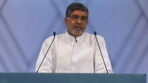 Children's rights advocate Kailash Satyarthi was co-winner of the 2014 Nobel Peace Prize. Screen image by PBS NewsHour