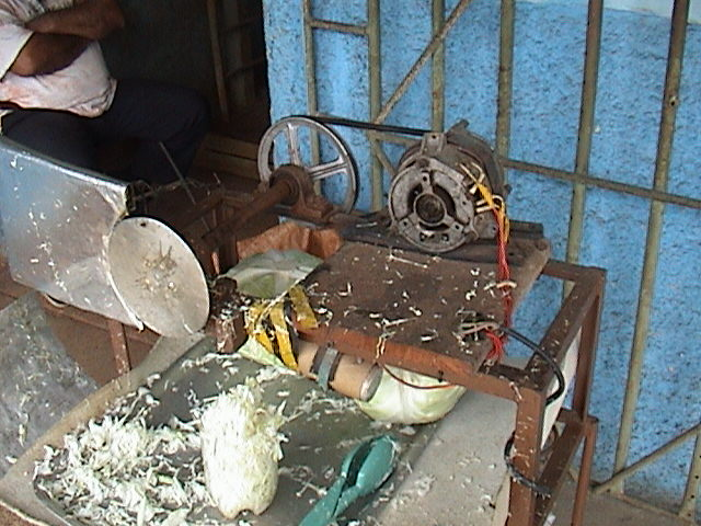 With the warm weather in Cuba, people could do without washing machine dryers.  So they found other uses.  These motors powered fans, lawnmowers, shoe repair tools and key copiers.  They were used to chop vegetables and shred coconut. Photo by Ernesto Oroza