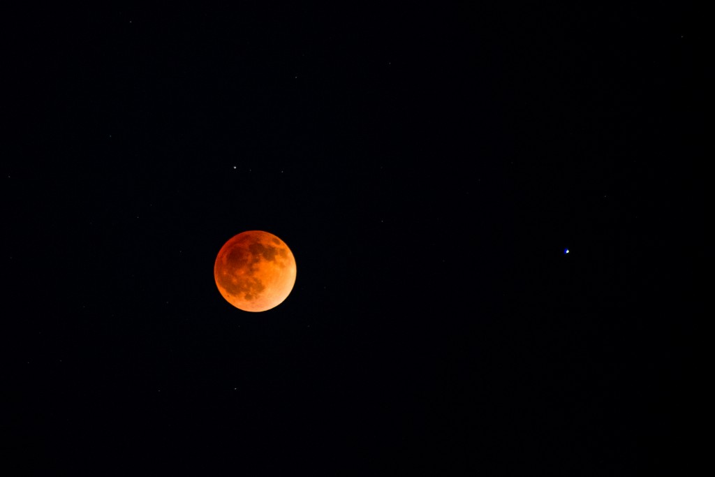 Photo of 2014 blood moon from Denali National Park and Preserve. Photo by Lian Law/NPS