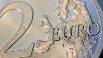 The Word Euro On A Euro Coin.