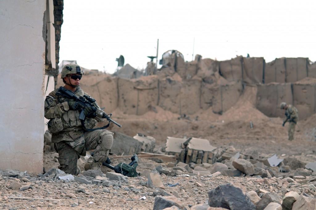 File photo of U.S. soldiers in Afghanistan by Javed Tanveer/AFP/Getty Images