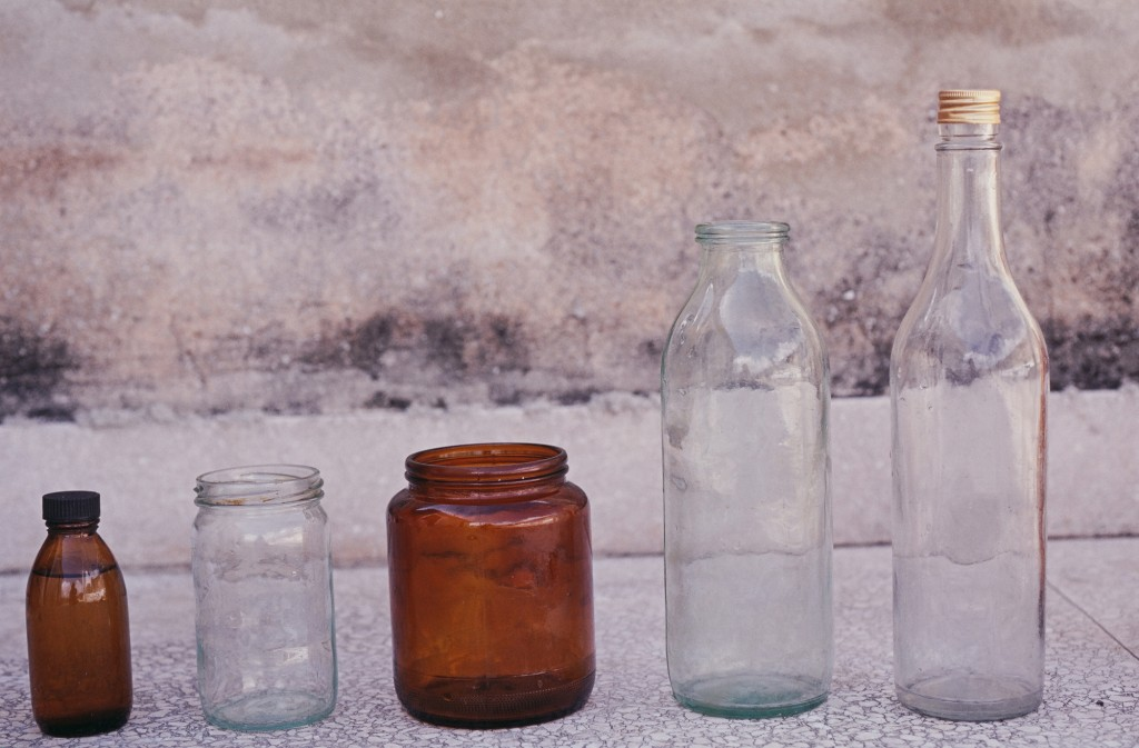 Government glassware used to distribute food was often reused to store and trade illegal food and medicine, Oroza says. Photo by  Ernesto Oroza