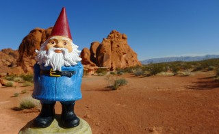 Travelocity, an online travel booking site with a traveling gnome as a mascot, was purchased by fellow travel site Expedia today. Photo by Flickr user Cory Gurman