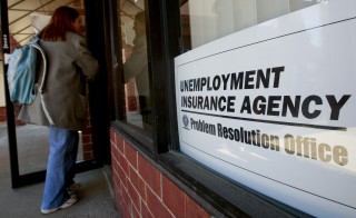Unemployment insurance stabilizes the housing market in times of crisis, according to new work from the National Bureau of Economic Research. Photo by  Jeff Kowalsky/Bloomberg.