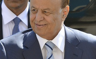 Former Yemen president Abed Rabbo Mansour Hadi at the Pentagon in Arlington, Va., July 30, 2013. Photo by Glenn Fawcett.