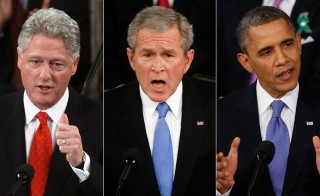 Bill Clinton (2000) , George W. Bush (2008) and Barack Obama (2013). Photos by Reuters