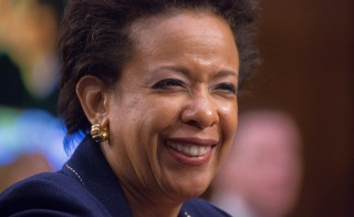 Attorney General nominee Loretta Lynch at her Confirmation Hearing. Photo by Jeff Malet