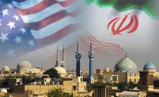 RETHINKING IRAN monitor  us iran flag